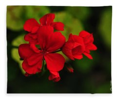 Red Geranium Fleece Blanket