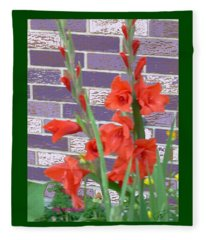Red Gladiolas Fleece Blanket