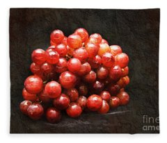 Red Grapes Fleece Blanket