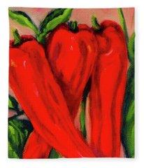 Red Hot Peppers Fleece Blanket