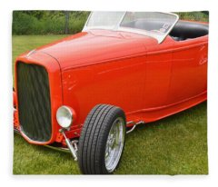 Red Hot Rod Fleece Blanket