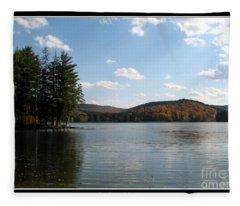 Red House Lake Allegany State Park Ny Fleece Blanket