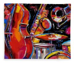 Red Jazz Fleece Blanket