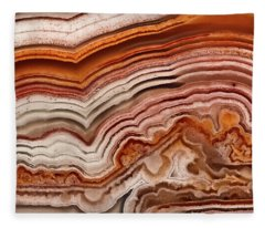 Red Laguna Lace Agate Fleece Blanket