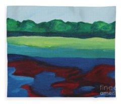 Red Lake Fleece Blanket
