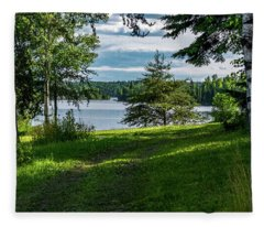 Red Lake Ontario 2 Fleece Blanket