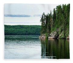 Red Lake Ontario Fleece Blanket