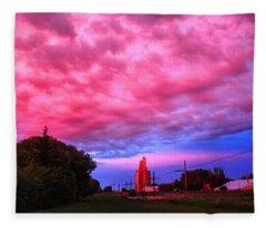 Red Over Sky Elevator Fleece Blanket