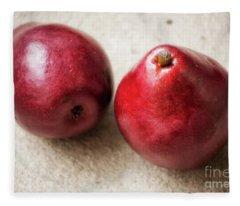Red Pears Fleece Blanket