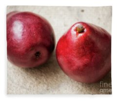 Red Pears Fleece Blanket