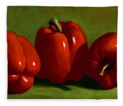 Red Peppers Fleece Blanket