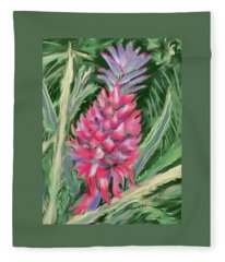 Red Pineapple Fleece Blanket