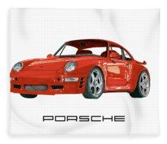 1997  Porsche 993 Twin Turbo R Fleece Blanket