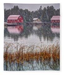 Red Reflection Fleece Blanket