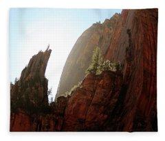 Red Rock At Zion Fleece Blanket