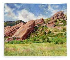 Red Rocks Amphitheatre Fleece Blanket