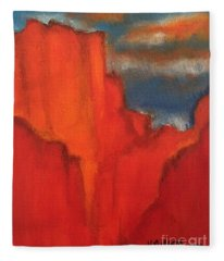 Red Rocks Fleece Blanket