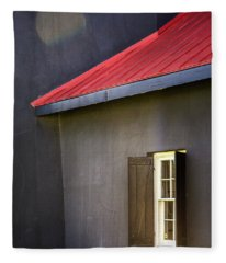 Red Roof Fleece Blanket