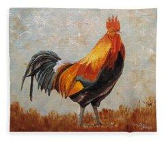 Red Rooster Fleece Blanket