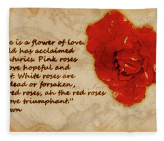 Red Rose Significance Fleece Blanket