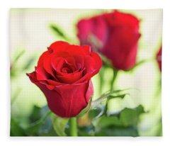 Red Roses For Love Fleece Blanket