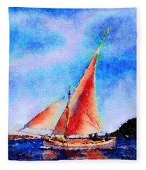 Red Sails Delight Fleece Blanket