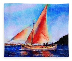 Red Sails Delight Fleece Blanket