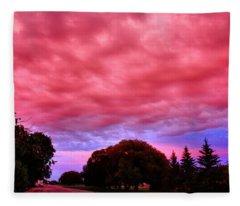 Red Sky At Night Fleece Blanket