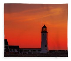 Red Sky In The Morning Fleece Blanket