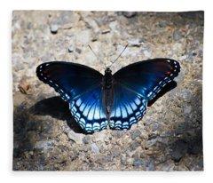 Red-spotted Purple Butterfly Fleece Blanket