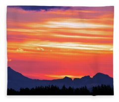 Red Sunrise Fleece Blanket