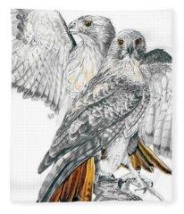 Red-tailed Hawk Fleece Blanket