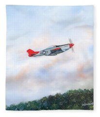 Red Tails Fleece Blanket
