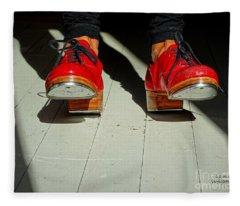 Red Tap Shoes Fleece Blanket