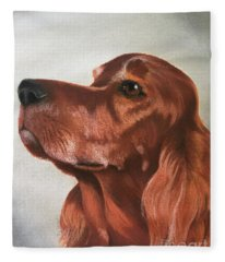 Red The Irish Setter Fleece Blanket