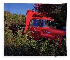 Red Truck Fleece Blanket