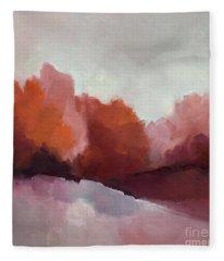 Red Valley Fleece Blanket
