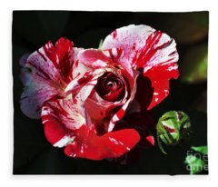 Red Verigated Rose Fleece Blanket