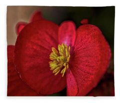 Red Wax Begonia Fleece Blanket
