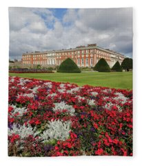 Red White And Blue At Hampton Court Fleece Blanket