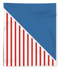 Red White And Blue Triangles Fleece Blanket