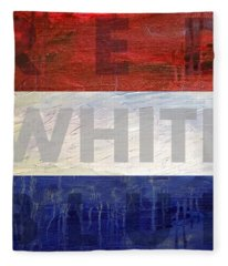 Red White Blue Fleece Blanket