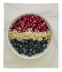 Red White Blue Power Breakfast Fleece Blanket