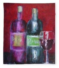 Red Wine Art Fleece Blanket