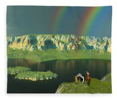 Redemption For An Angry Sky Fleece Blanket