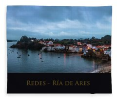 Redes Ria De Ares La Coruna Spain Fleece Blanket
