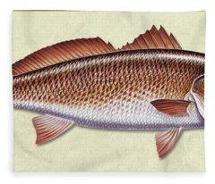Redfish Id Fleece Blanket