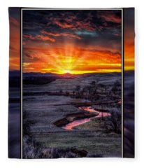 Redwater River Sunrise Fleece Blanket
