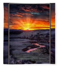 Redwater River Sunrise Fleece Blanket