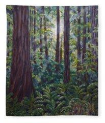 Redwoods Fleece Blanket